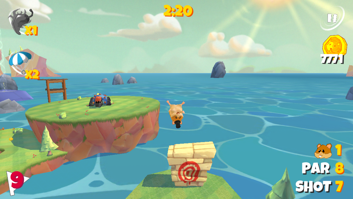 Boom Boom Hamster Golf - screenshot