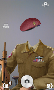 Military portrait photomontage screenshot