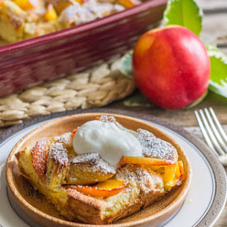 Peaches and Cream French Toast Bake