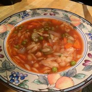 Tomato Orzo Soup.