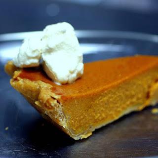 Silky Smooth Pumpkin Pie.