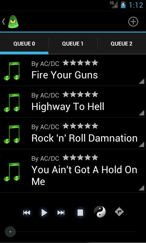 BullseyeDroid Music Player- screenshot