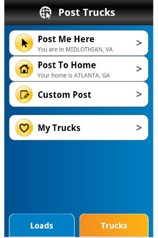 Getloaded is an Android-based app that helps you search for available trucks and loads in your area