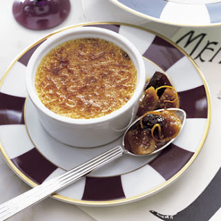 White Pepper Crème Brûlée with Fig and Prune Compote