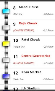 Delhi Metro Navigator - screenshot thumbnail