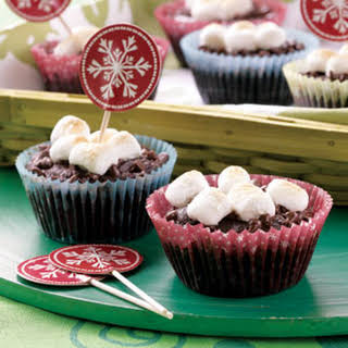 Chocolate and Marshmallow Cupcakes.