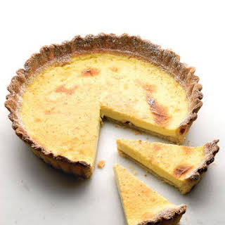 Classic Egg Custard Pie with Lots of Nutmeg.