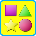Shapes game for kids flashcard icon