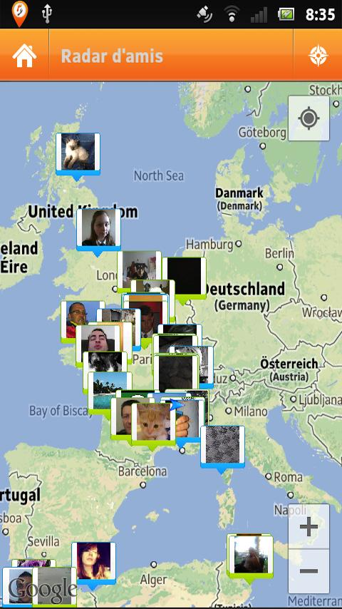 Ofollowme (Friends in Maps) - screenshot
