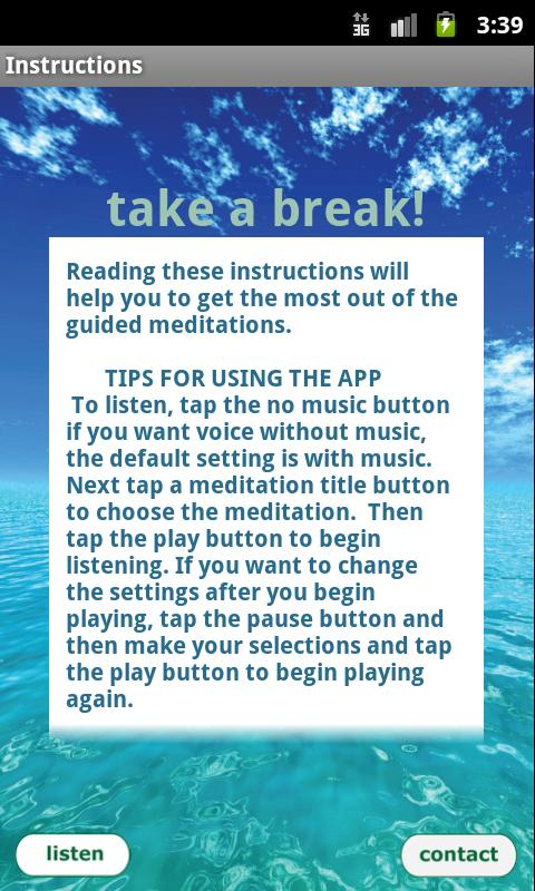 Free Meditation - Take a Break – screenshot