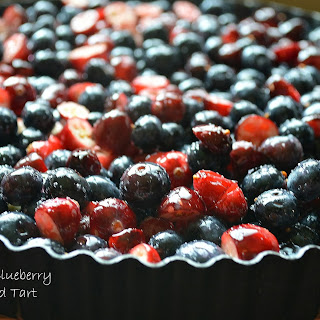Cranberry Blueberry Shortbread Tart