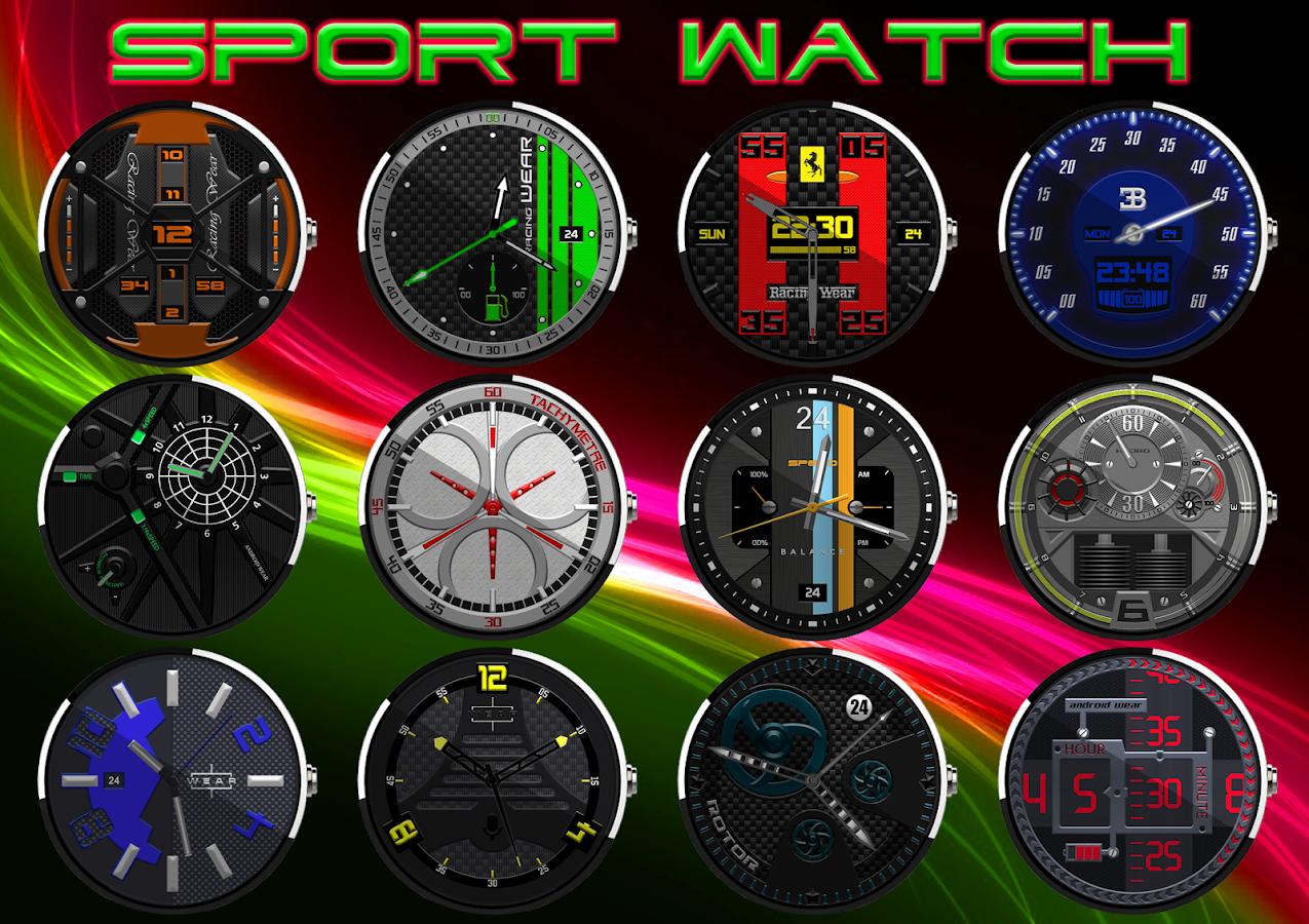 Facer android wear - Sport Watch Face Wear Screenshot