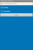 Screenshot of Temperature Converter