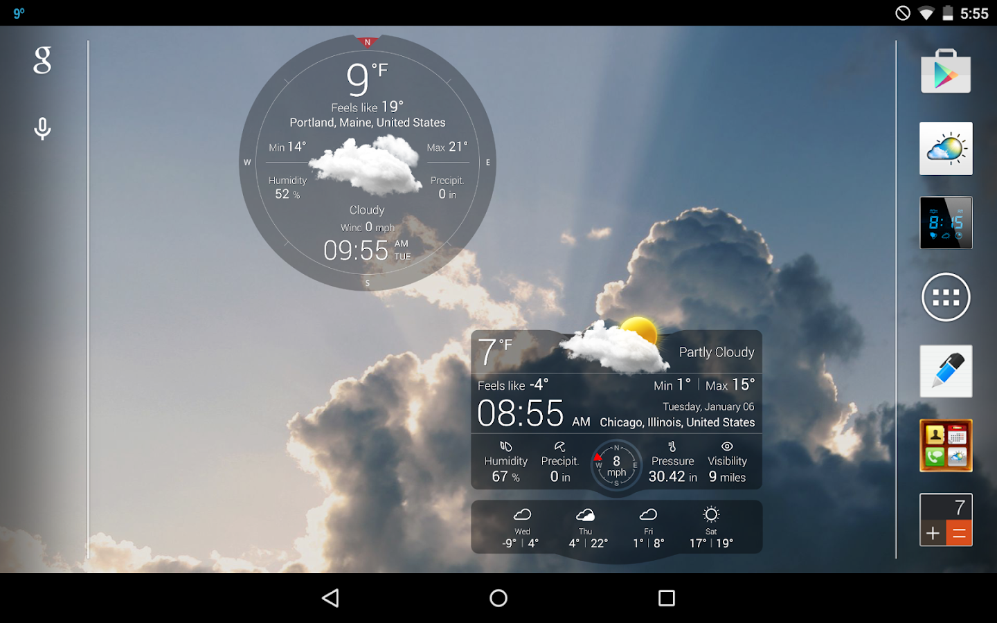 Wall Art Apk Download : Weather live with widgets free screenshot