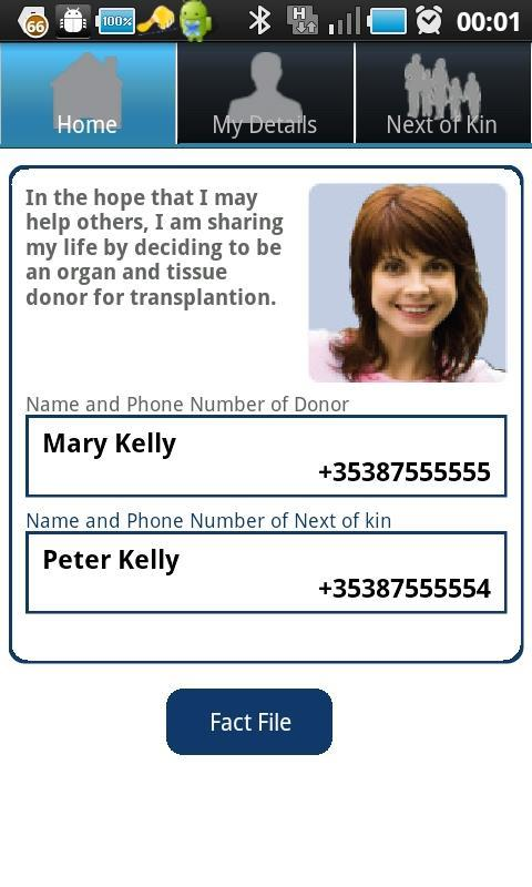 Organ Donor ECard- screenshot