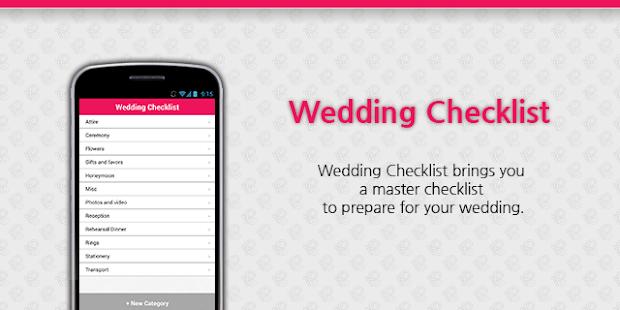 Wedding Checklist Android Apps on Google Play – Wedding Checklists