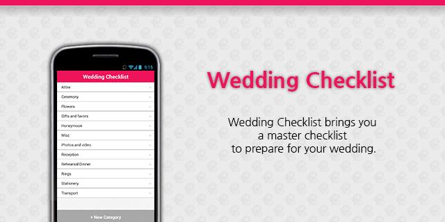 Wedding checklist android apps on google play wedding checklist screenshot junglespirit Choice Image