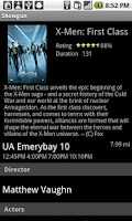 Screenshot of Movie Times for Android