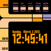 GoTrek widget clock