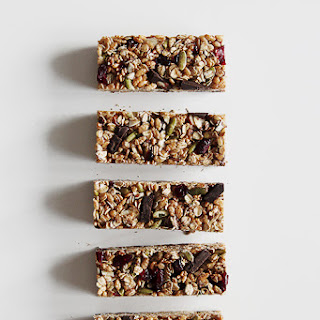 Granola Bars with Superfood Chocolate.