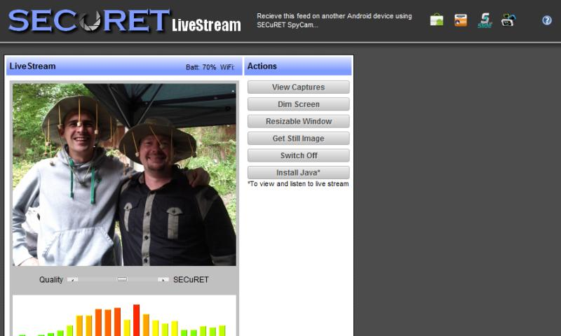 Camera WiFi LiveStream DEMO - screenshot