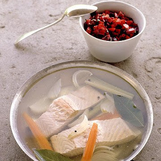 Poached Salmon with Beet Relish