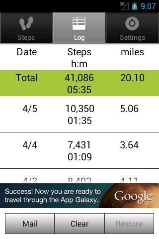 Walkroid - simple pedometer- screenshot
