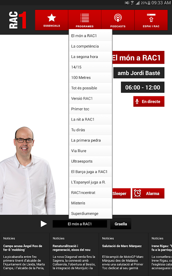 RAC1 Oficial- screenshot