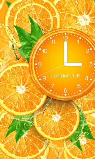 Orange clock wallpaper PRO