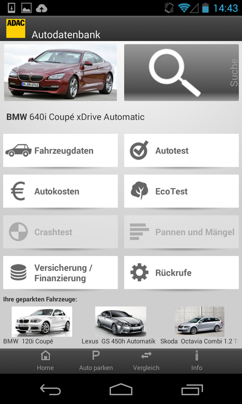 ADAC Autodatenbank - screenshot