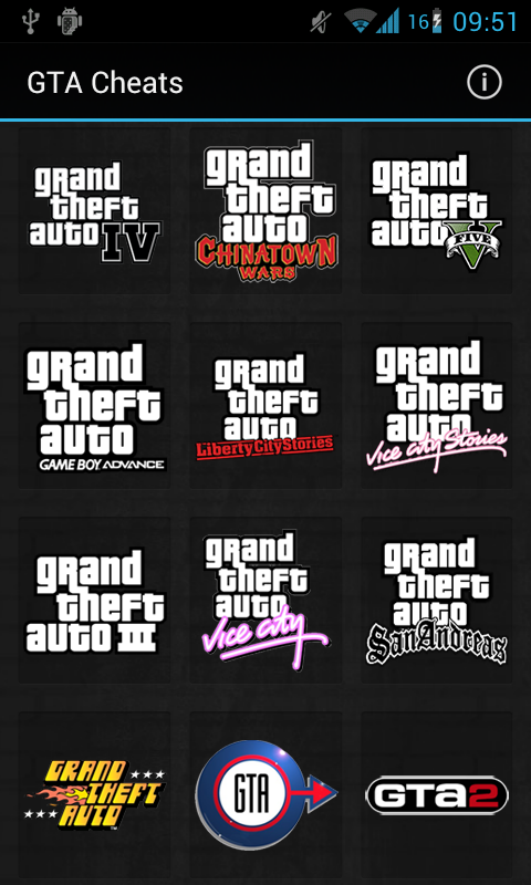 GTA Cheats - screenshot