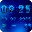 Digital Clock Widget A-BLUE