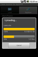 Screenshot of Cloud Explorer for OneDrive