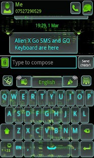 ALIEN X GO SMS Pro- screenshot thumbnail