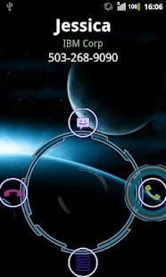Rocket CallerID Holo Theme screenshot