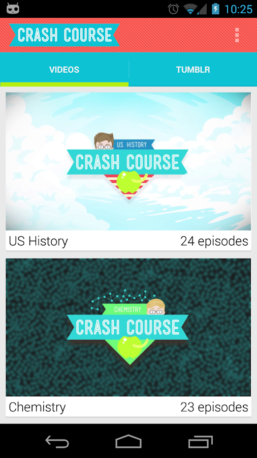 Crash Course Browser - screenshot