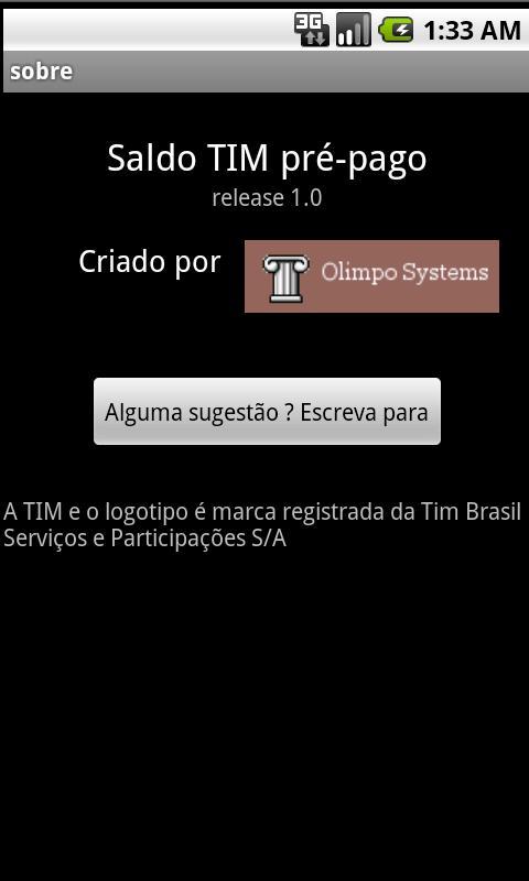 Saldo Pré-Pago TIM- screenshot