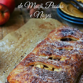 Apple, Walnut, and Port Wine Strudel.