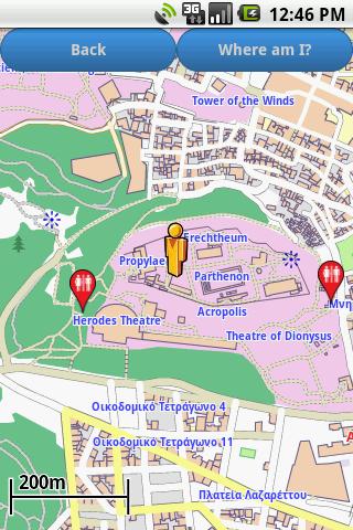 Athens Amenities Map free