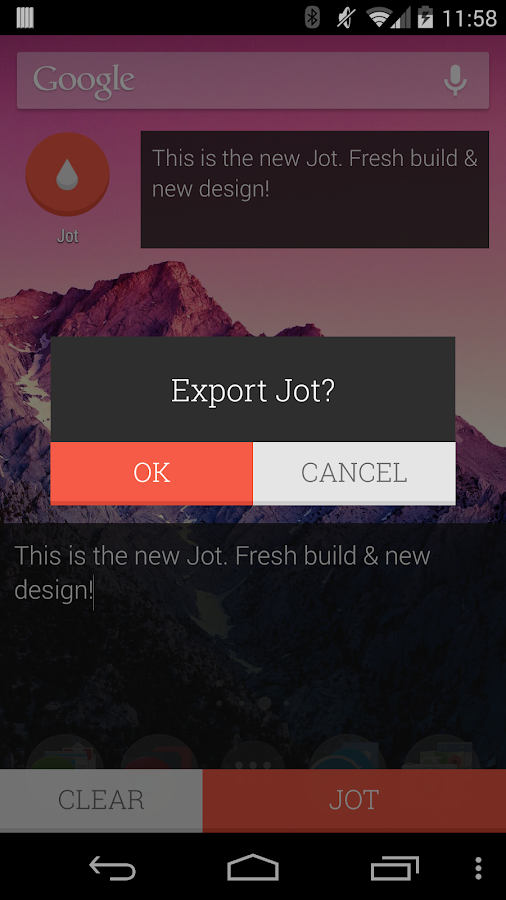 JOT! - Notes Widget - screenshot