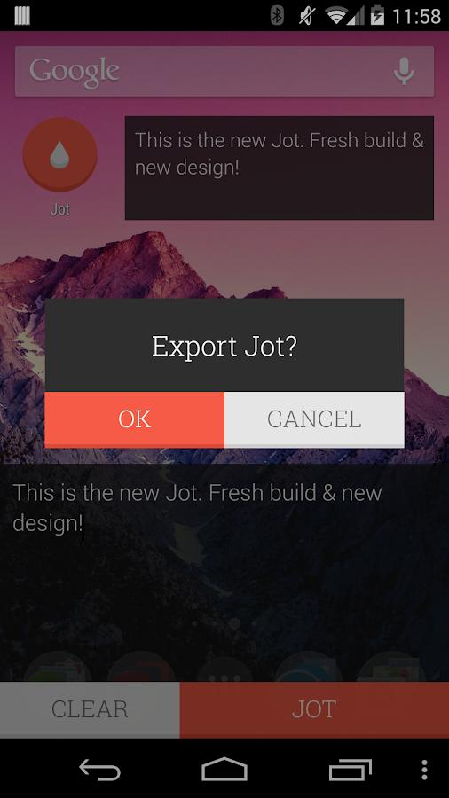JOT! - Notes Widget- screenshot
