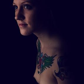 inked - low key by Alexander Kulla - Nudes & Boudoir Artistic Nude ( model, nude, low key, naked, woman, akt, inked,  )