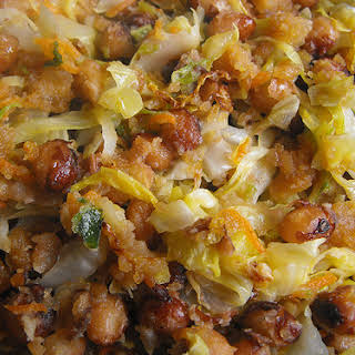 Sauteed Cabbage and Beans.