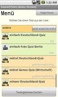 Screenshot of DeutschTests (GermanTests)