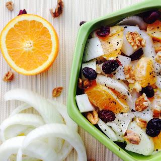 Fennel, Orange, Cranberries And Walnuts Salad