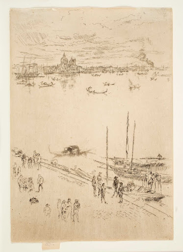 "Upright Venice, from the ""Twenty-Six Etchings"", also known as the ""Second Venice Set"""