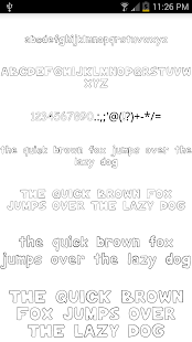 Fonts for FlipFont #15 - screenshot thumbnail