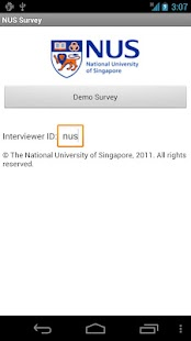 NUS Survey - screenshot thumbnail