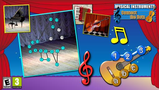 ミュージカル接続ドットのパズル