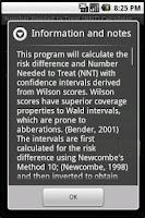 Screenshot of NNT Calculator